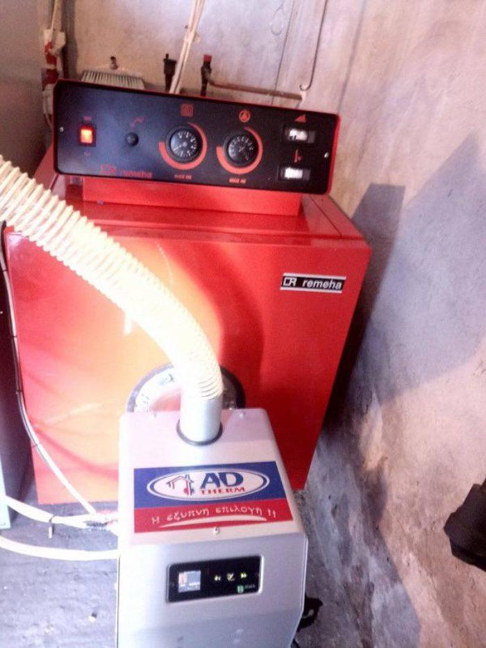Μετατροπή μαντεμένιου λέβητα Remeha σε πελλετ με καυστήρα Bmix Digital Σέρρες