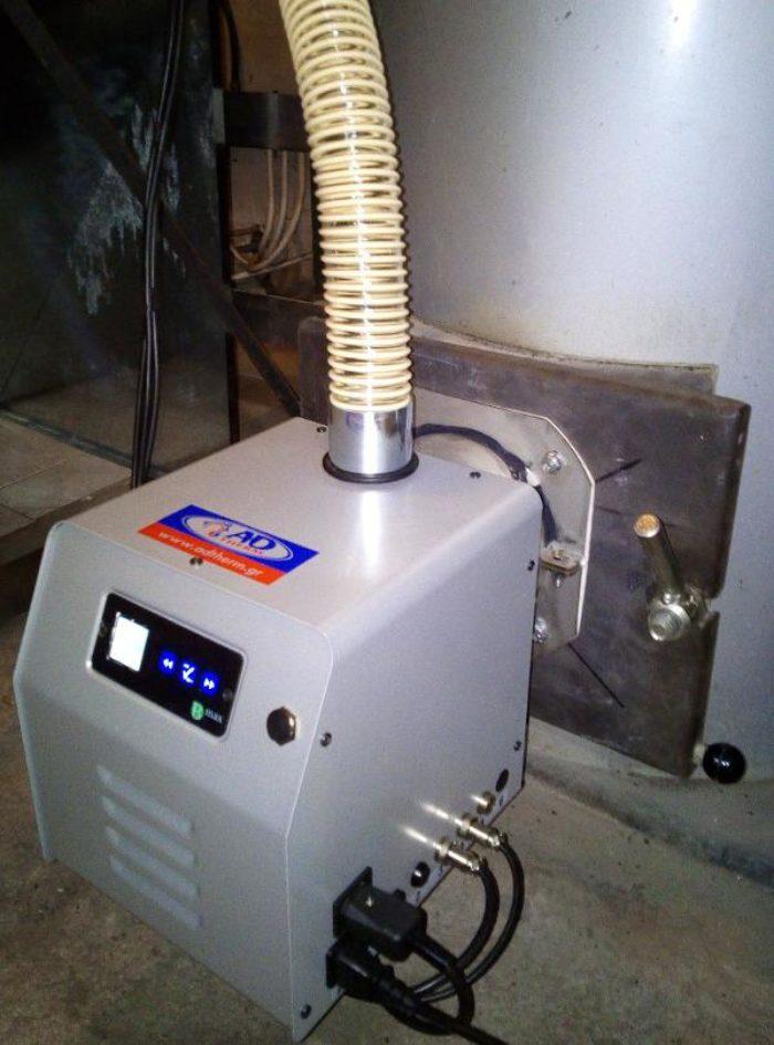 Μετατροπή λέβητα ξύλου σε πελλετ με τον καυστήρα Bmix Digital στο Χορτιάτη
