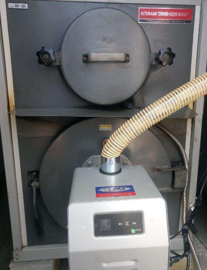 Μετατροπή σε ξυλολέβητα KITURAMI σε πελλετ με τον BMIX DIGITAL στην Σκοτίνα Πειρίας