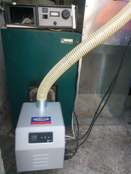 Μετατροπή λέβητα πετρελαίου Vaillant σε πελλετ με καυστήρα BMIX DIGITAL στο Άργος Ορεστικό