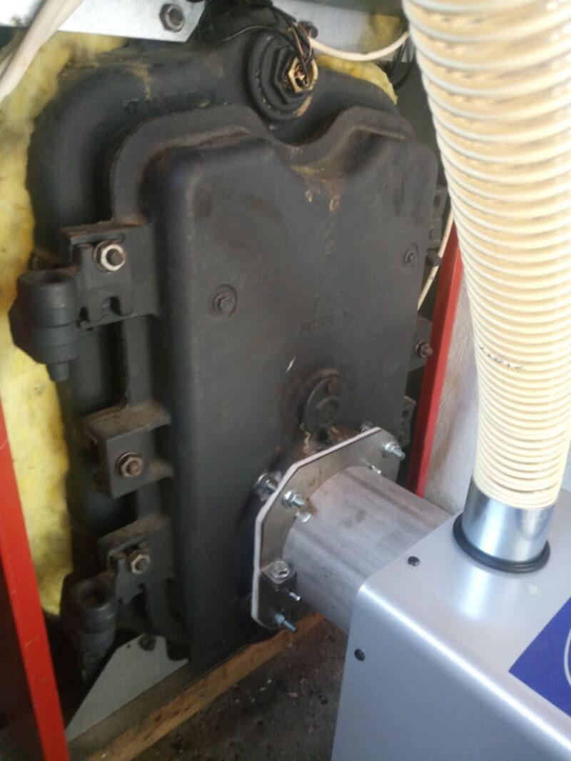 Μετατροπή μαντεμένιου λέβητα BIASI με τον Ιταλικό καυστήρα BMIX DIGITAL στο Παλιό Κεραμίδι