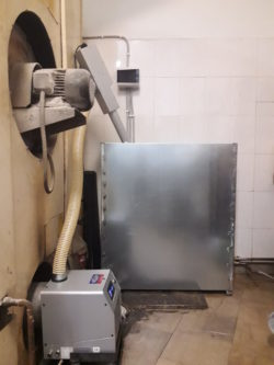 Καυστήρας πελλετ BMIX OVEN σε κυκλοθερμικό φούρνο 12 τελάρων στο Αγρίνιο