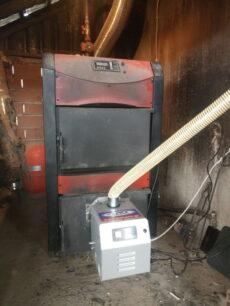 Καυστήρας πελλετ Bmix Digital σε ξυλολέβητα Burnit 50kw στον Άγιο Σπυρίδωνα Πιερίας