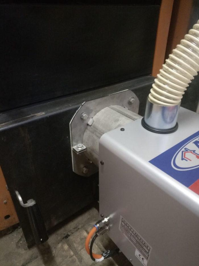Μετατροπή ξυλολέβητα saturn με καυστήρα πελλετ Bmix Digital στην Κομοτηνή