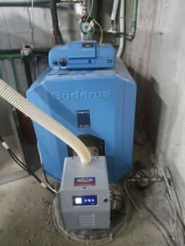 Καυστήρας πελλετ σε λέβητα πετρελαίου BUDERUS Logano G125