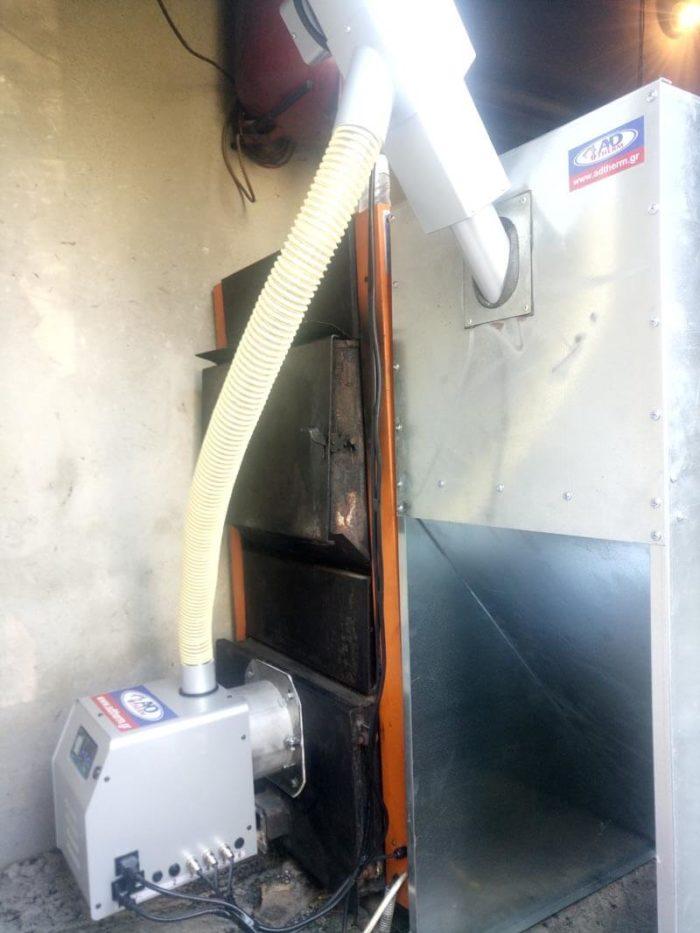 Μετατροπή ξυλολέβητα Saturn σε πελλετ στον Βελβεντό Κοζάνης