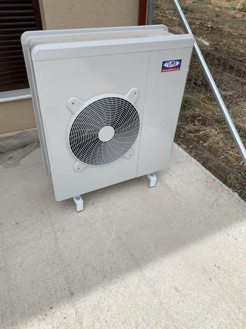 Αντλία θερμότητας inverter 11kw στο Αιγίνιο Πιερίας
