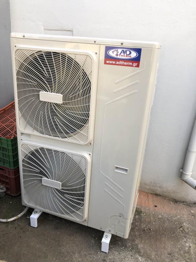 Εγκατάσταση Αντλία θερμότητας 16kw inverter στην Κατερίνη