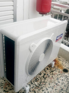 Αντλία θερμότητας inverter σε διαμέρισμα 80τ.μ. στο κέντρο της Κατερίνης