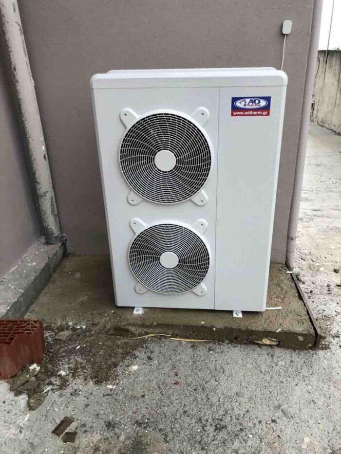 Αντλία Θερμότητας inverter ADTHERM 16kw σε μονοκατοικία 160τμ. στον Κολινδρό Πιερίας