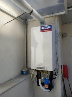 Λέβητας αερίου chaffoteaux inoa 24 σε διαμέρισμα στην Θεσσαλονίκη