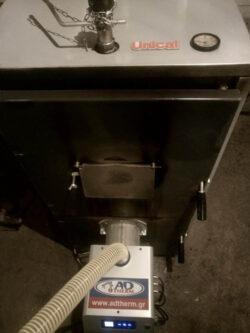 Μετατροπή σε Ιταλικό λέβητα ξύλου Unical με τον Ιταλικό καυστήρα πελλετ Bmix Digital στο Λιτόχωρο Πιερίας